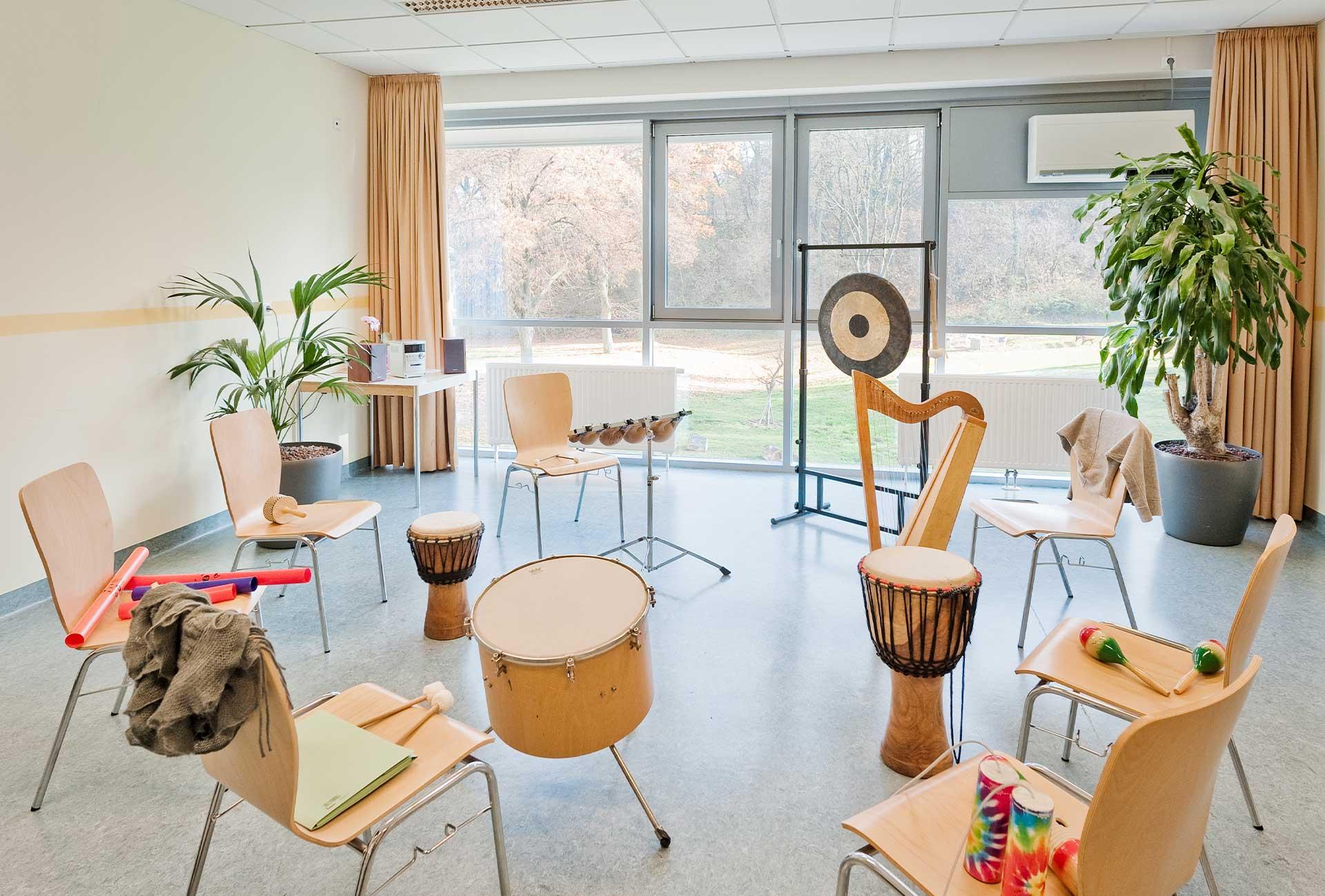 Musiktherapieraum, © Reinhard Podolsky/mediadesign